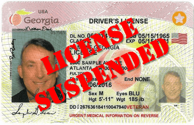 2nd DUI in Georgia license suspension