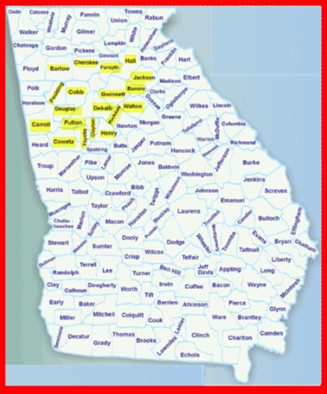 Traffic Ticket counties we serve in Georgia
